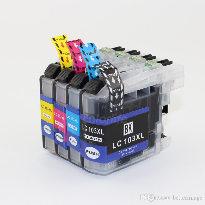 Via inchiostro Non originale Cartuccia inkjet sostituzione LC103 con chip per stampante Brother, pronto all'uso