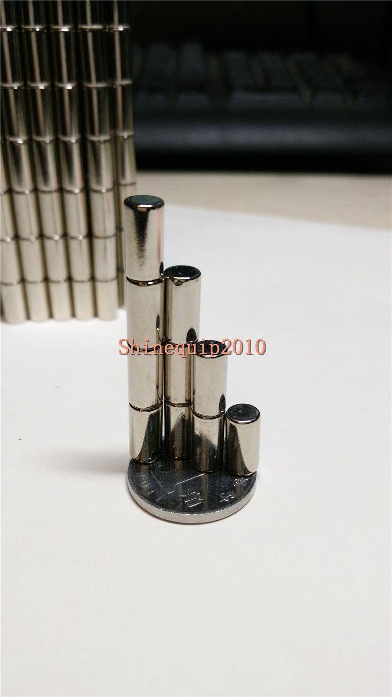 200pcs Neodymium Disc Mini 4X10mm Rare Earth N35 Strong Magnets Craft Models