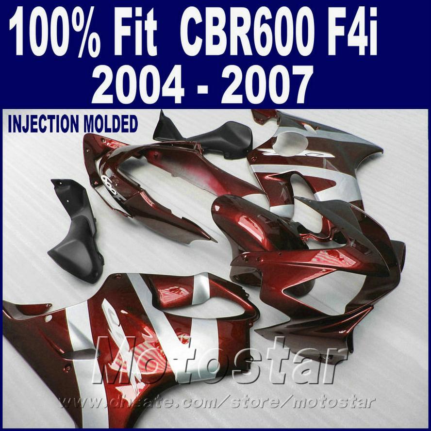 HONDA CBR 600 F4i kaportalar için ABS Enjeksiyon kalıplama 2004 2005 2006 2007 vücut parçaları 04 05 06 07 cbr600 f4i + 7Gifts FYSE