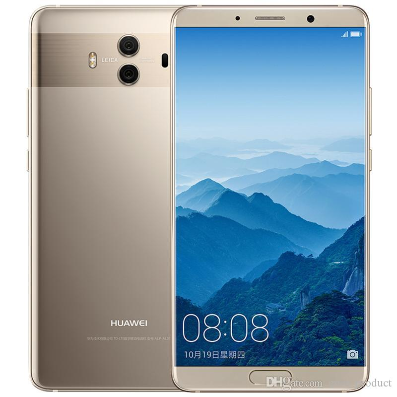 "Original Huawei Mate 10 4G LTE Mobile Phone 6GB RAM 128GB ROM Kirin 970 Octa Core Android 8.0 5.9"" 2K Screen 20MP NFC Fingerprint Cell Phone"