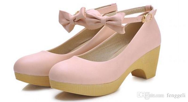 숙녀 신발 2016 새로운 봄 조수 거친 바람 연구소 얕은 입 달콤한 작은 신선한 학생 신발 캐주얼 신발