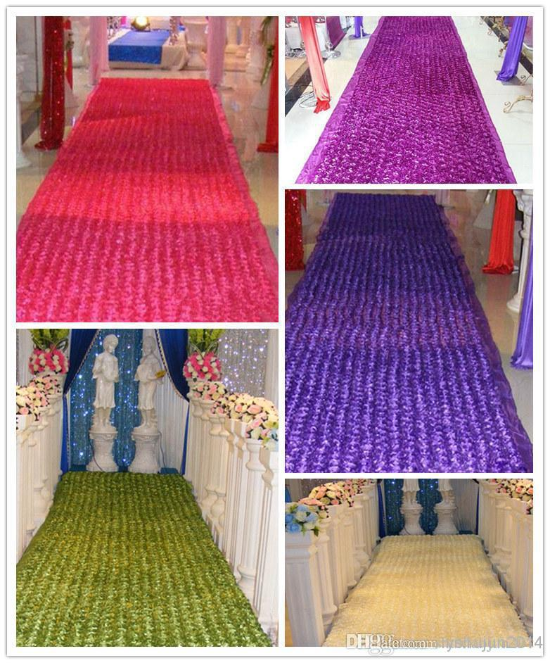 2016 New wedding carpet 3D Rose Petal Aisle Runner For Wedding Party Decorations Supplies Shooting Prop