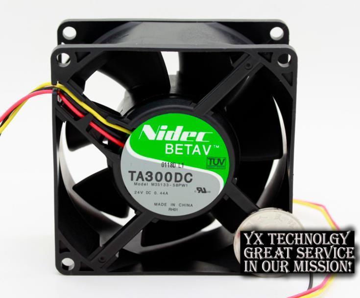 Nueva TA300DC M35133-58PW1 8038 24V 0.44A ventilador de refrigeración del inversor para Nidec 80 * 80 * 38mm