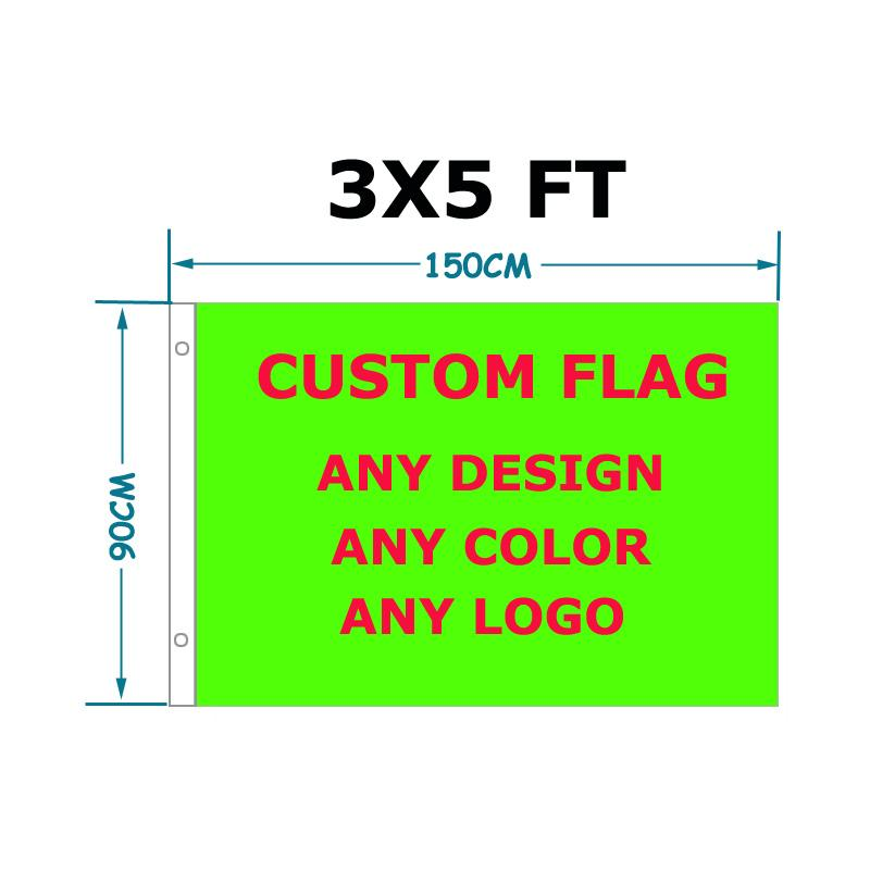 free shipping Custom Flag 90 x 150 cm Polyester Customize Flags And Banners For Home Decoration Sport Outdoor Banner