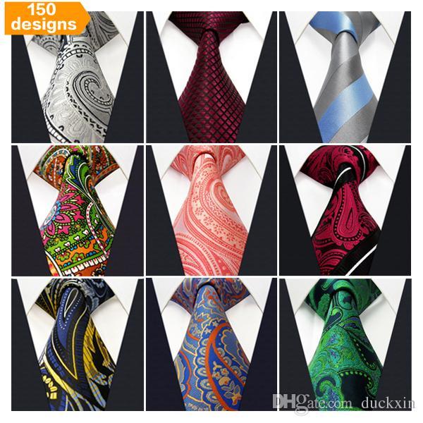 Black Purple Red Grey Pink Wedding Stripe Paisley Dots Necktie Silk Men/'s Tie