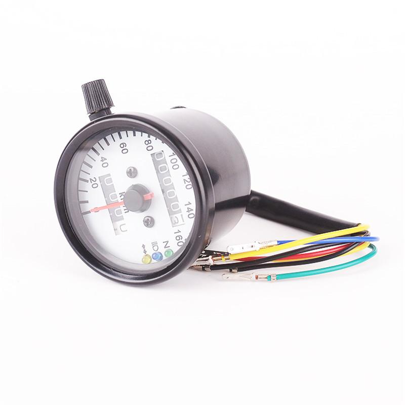 Modified motorcycle odometer / speedometer / odometer meter instrument retro double shell
