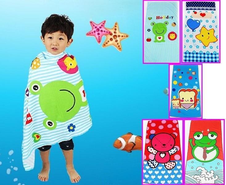 cartoon bath towel beach towel children microfiber fabric 60*120cm / 24'' * 47'' lovely bear bee star