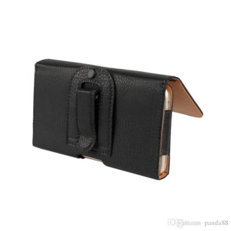 """1PCS Drop Shipping Moda Negro Cor Clip de cinto pele caso para Samsung Galaxy A8 A8000 (5,7"""" ) Telefone Bags"""