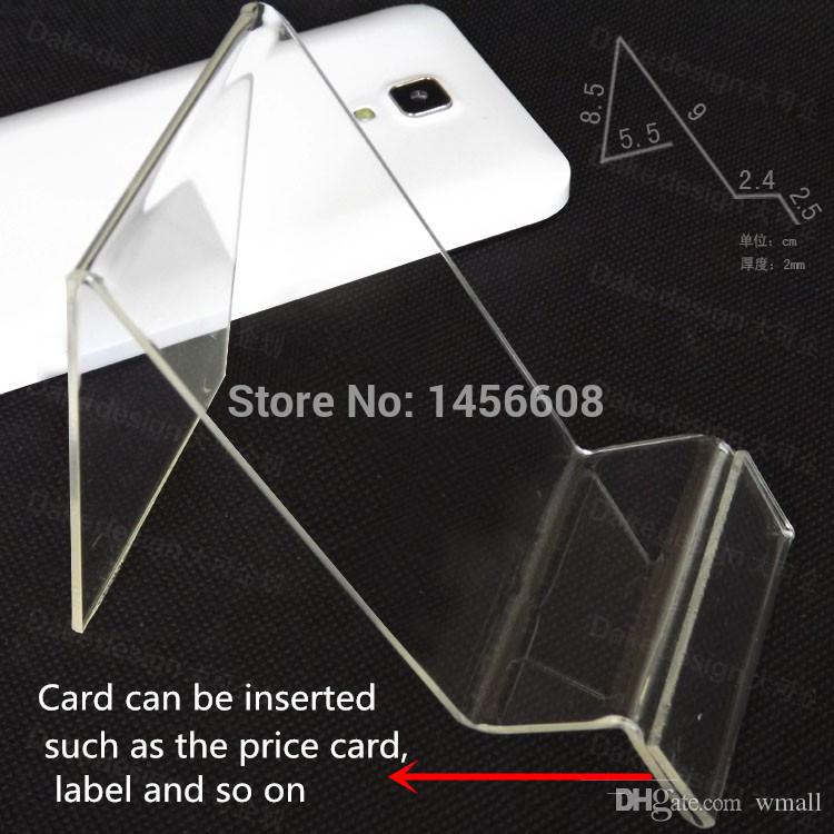 Acrylic phone display stand Cell phone mounts Holder for 6inch iphone samsung HTC at good price free shipping