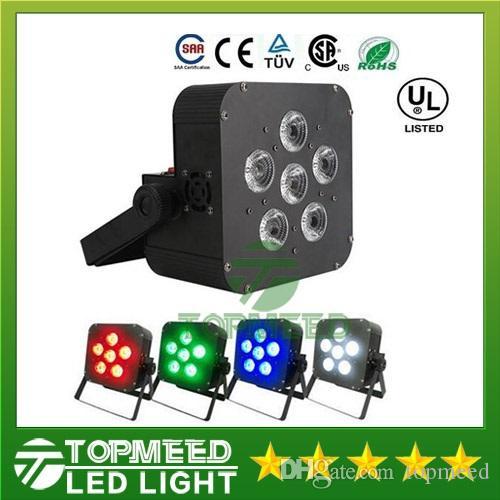 DHL 6x8 w LED Par Işık Kablosuz 4in1 Pil led düz Kablosuz DMX LED Sahne Akülü led düz par ışıkları Kulübü Aydınlatma 44