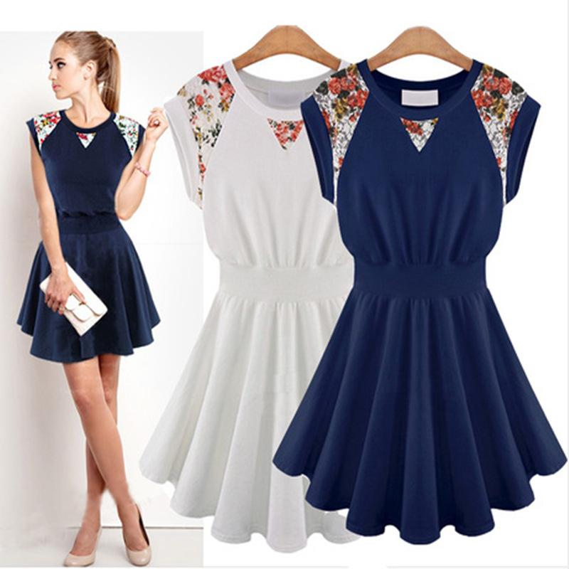 Best Sales 2015 Summer Dresses Outfits Women Fashion New Dresses 2 Colors Women's Clothing Vestidos