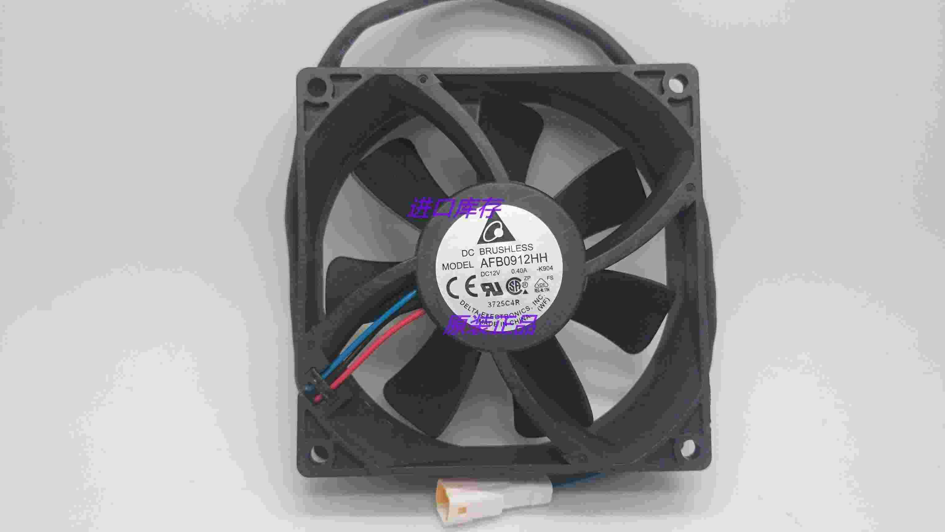Brand new Delta AFB0912HH 12V 0.40A RG alarm signal 9cm case cooling fan 5500RPM 80CFM