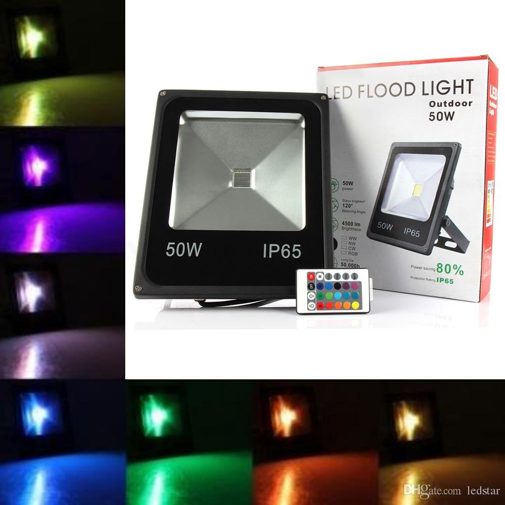 야외 조명 10W 20W 30W 50W RGB Led 투광 조명 방수 Led 홍수 가로 벽 램프 AC 85-265V ce ul DLC