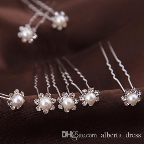 2019 hot Hairpins Wonderful free Shipping High Quality Cheap Beautiful Pearl Wedding Bridal Flora Tiaras Hair Accessory Headpiece