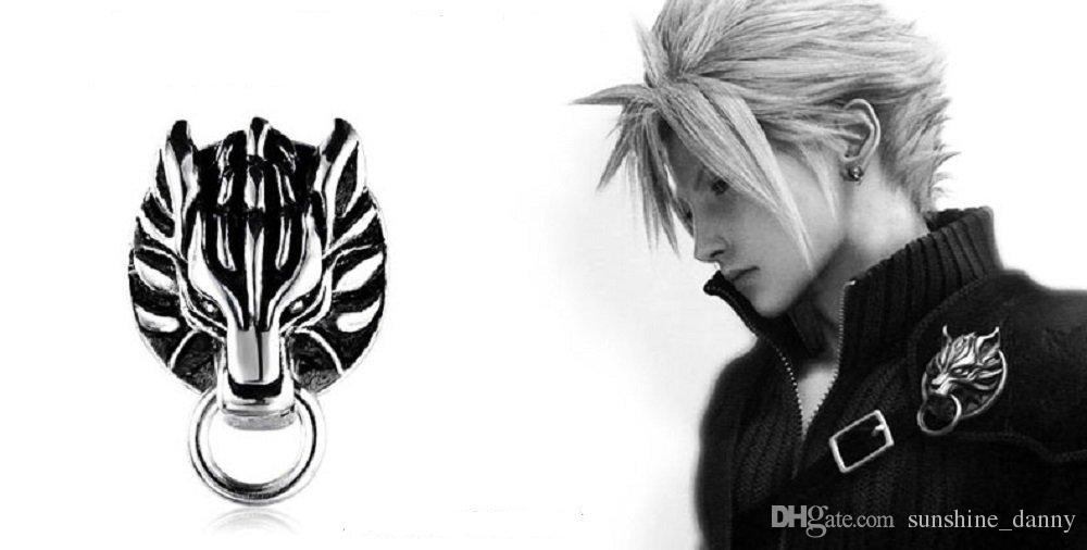 Final Fantasy VII 7 Cloud Strife Cloudy Wolf 925 Sterling Silver SINGLE Earring