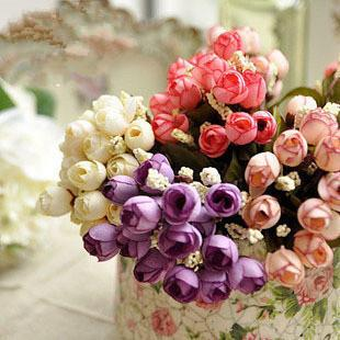 New 15pcs Fake artificial flowers for decoration S...