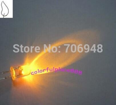 10 x LED 5mm Blue Candle Flicker Ultra Bright Flickering LEDs Light Model Prop