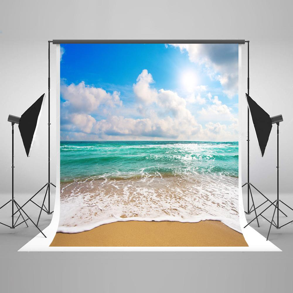 Freeshipping 10X20FT Kate 여름 해변 사진 배경 사진 스튜디오 어린이 사진 소품 배경에 대한 해변 배경