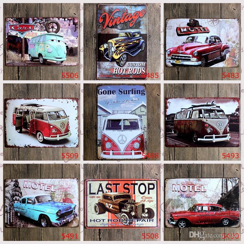 2015 fashion 20*30cm retro vintage classic auto car Tin Sign Coffee Shop Bar Restaurant Wall Art decoration Bar Metal Paintings