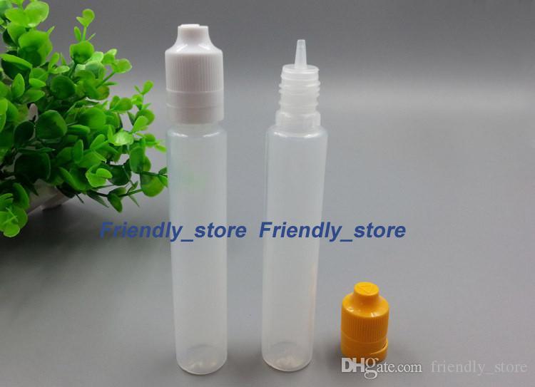 2018 Hot Selling Plastic Bottles child proof tamper cap 30ml LDPE E- Liquid Bottles With Long Dropper Plastic Pen Style Bottle 30 ml