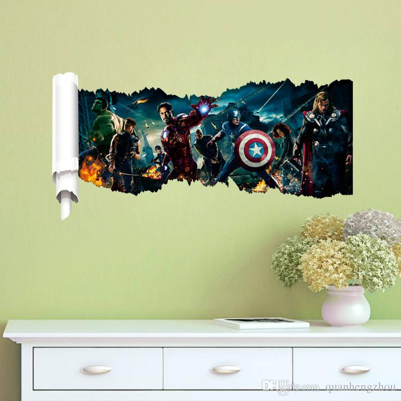 8 design Avengers 3D DIY super hero captain america iron man hulk ...