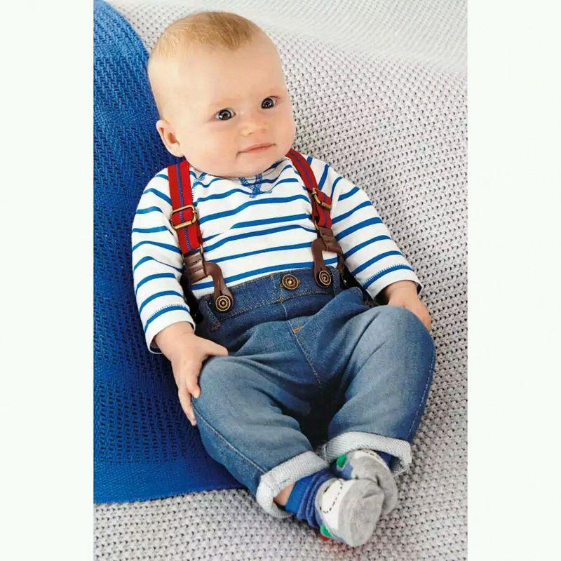UK Infant Baby Boys Cotton Short T-shirt+Denim Pants Summer Outfits 2pcs
