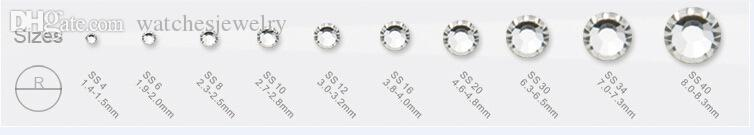 All'ingrosso-120 pezzi Flatback ss20 DMC Clear Hot Fix Strass Cristalli brillanti Strass Trim per abbigliamento Stivali Borse Heat Transfer Hotfix