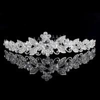 Beau Crowns Princess Crystal Flower Crowns Jewelry With Comb Bridal Accessories 2015 Tiara Hairbands Free Shipping Wedding Crown