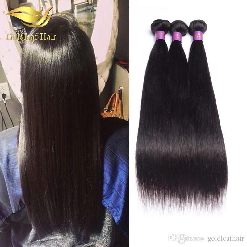 Wholesle price unprocessed Brazialian straight haiir 1pc hair weft Malaysian hair Peruvian Indian silk straight human hair extensions