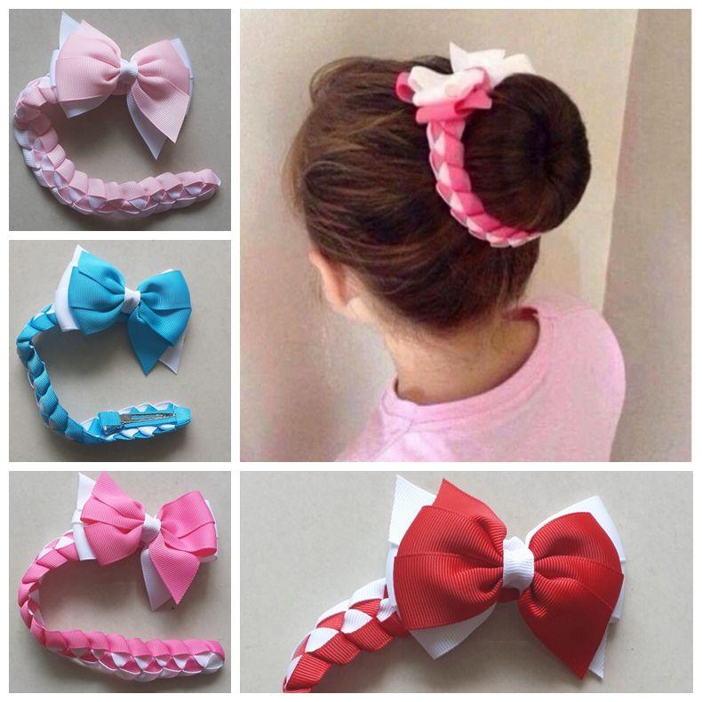 Girl Hair Bow Bun Wrap Girls School Hair Accessories Maroon Free Postage