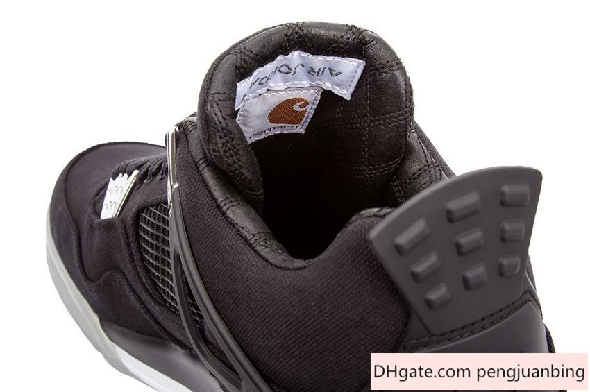 New Carhartt Eminem Nike Air Jordan 4 Shoe Mens Basketball Shoes High Top Luxury Shoe Nike Air Retros 4s Sneakers Sports Shoes Mens Basketball Shoes