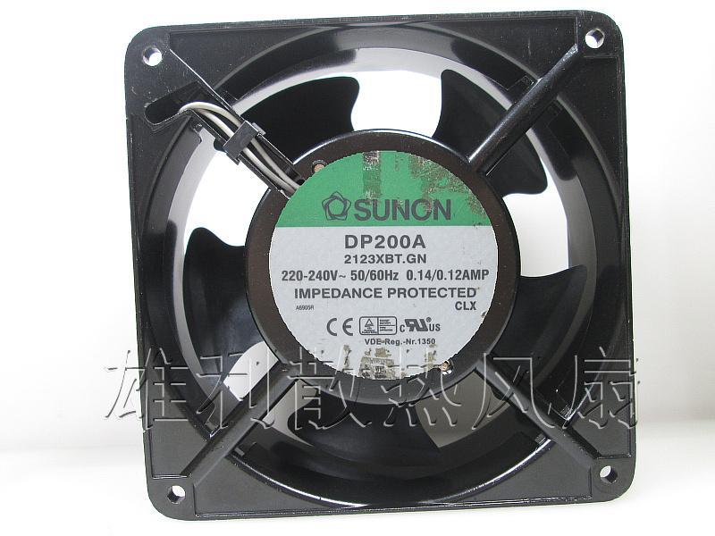 Origineel voor Sunon DP200A 2123XBT.GN AC220V 120 * 120 * 38mm 12cm kast AC koelventilator