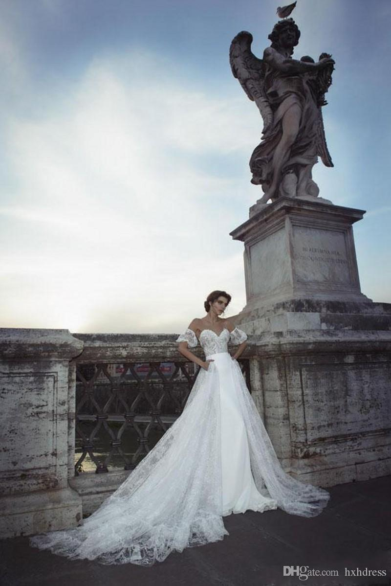 Großhandel New Julie Vino Überrock Brautkleider Mermaid Sheer Jewel ...