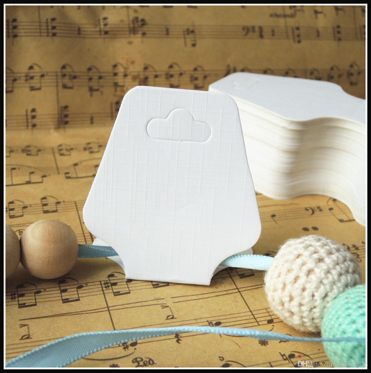 800 stücke diy keine text leere halsketten karten hohe qualität papier halskette zeigt karten weiß schmuck halter verpackung karte hängen tags # 5011