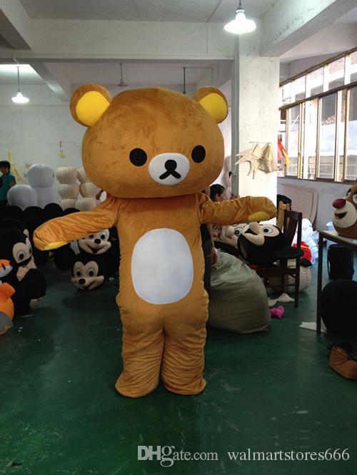 2017 горячие продажа медведь костюм талисмана милый мультфильм одежда завод индивидуальные частные пользовательские реквизит ходьба куклы кукла одежда