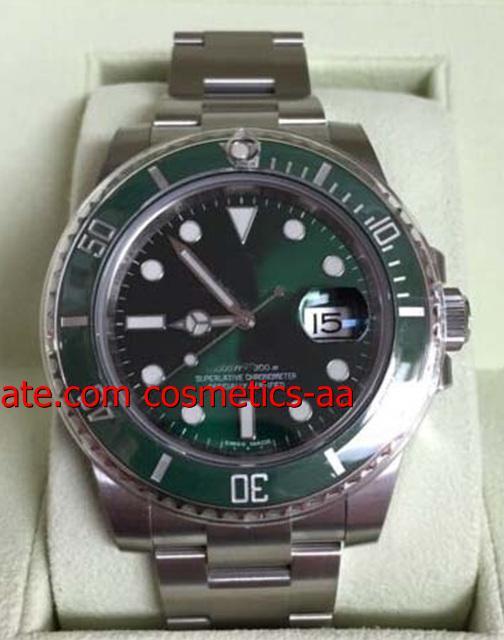 Relógios de luxo MENS RELÓGIO 116610 Caixa De Cerâmica Verde Novo Estilo Cartão Branco Movimento Automático Relógios Dos Homens Mecânicos Relógio De Pulso