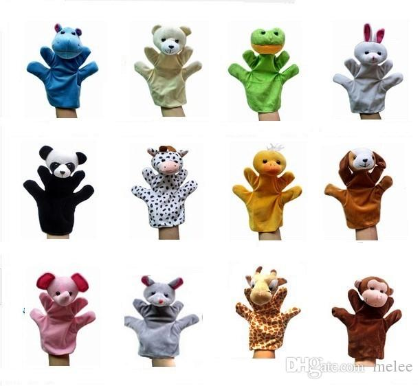Big Animal main Gant Marionnette Main Poupées En Peluche Jouet Bébé Enfant Zoo Ferme Animal Main Gant Marionnette Doigt Sac Peluche