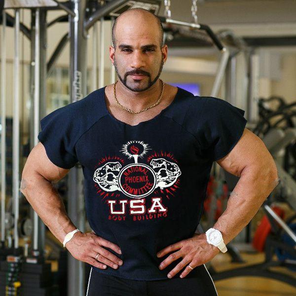 Blusas Men Polar Fleece Short Sleeve T Shirt Bodybuilding Fitness Gym Muscle Man Npc Gasp Olimp Casual Print Slogan Shirts From