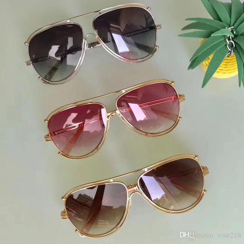 Neue Luxusmode Marke Designer Simple Models Catwalk Ce Runde Stil 121 Rahmen Sonnenbrille Eye Sommer Retro Freizeit Schutz Metall T MRLU