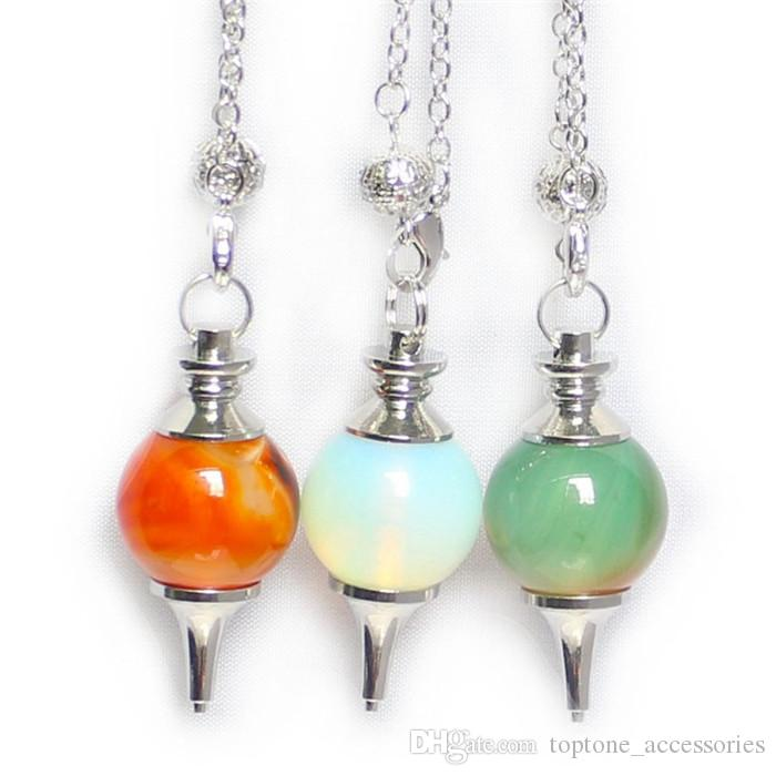Newest Womens And Mens Pendant Necklaces Atural Crystal Agate Jewelry Crystal Hanging Ornaments Spirit Spiritual Spirituality