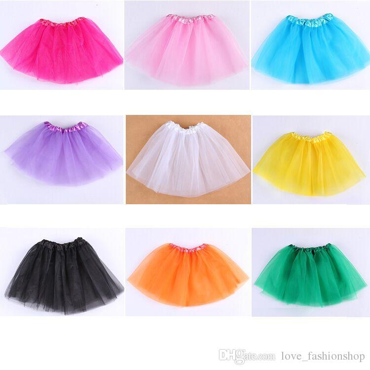 15 Colors Baby Girls Candy color christmas Pleated Tutu Skirts Children Ball Gown Ballet Dance Dresses Pettiskirt Dancewear kids clothes