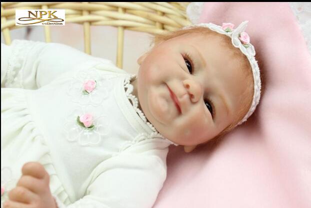 새로운 다시 태어난 아기 현실적인 실리콘 다시 태어난 인형 16 인치 / 40cm 아이의 생일 선물을위한 생명력있는 아기 reborn 장난감 결혼 선물