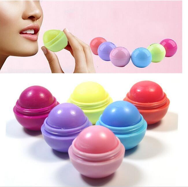 Симпатичные круглый шар бальзам для губ 3D Lipbalm фруктовый вкус губ Smacker натуральный увлажняющий губы уход бальзам помады