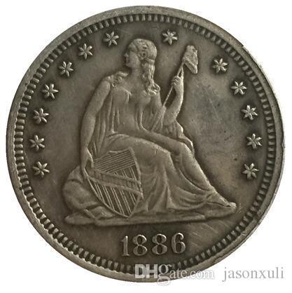 1886 يجلس ليبرتي الربع نسخة شحن مجاني