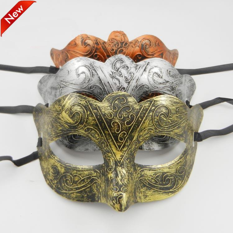 Gold Rome Eyemask Masquerade Ball Fancy Dress Ancient Roman Greek Costume Mask