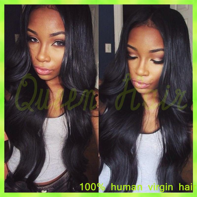 Prida Hair Brazilian Virgin Natural Wavy Full Lace Wig,Cheap Wavy Full Lace Human Hair Wigs With Baby Hair For Black Women