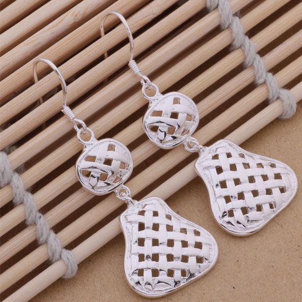 Moda (fabricante de la joyería) 20 piezas mucho Hollow Gourd pendientes de fábrica de la joyería de la plata esterlina 925 Moda Shine Earrings