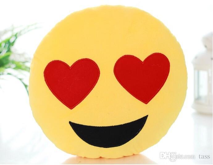 cushion cute lovely emoji pillows cartoon facial qq expression cushion yellow round pillow stuffed plush toy