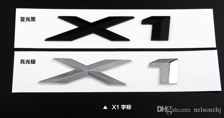 Free shipping high Quality Car 3D ABS material Tail emblem Stickers 1piece x1 x3 x5 x6 GT for Germany Car B*M** series x Class