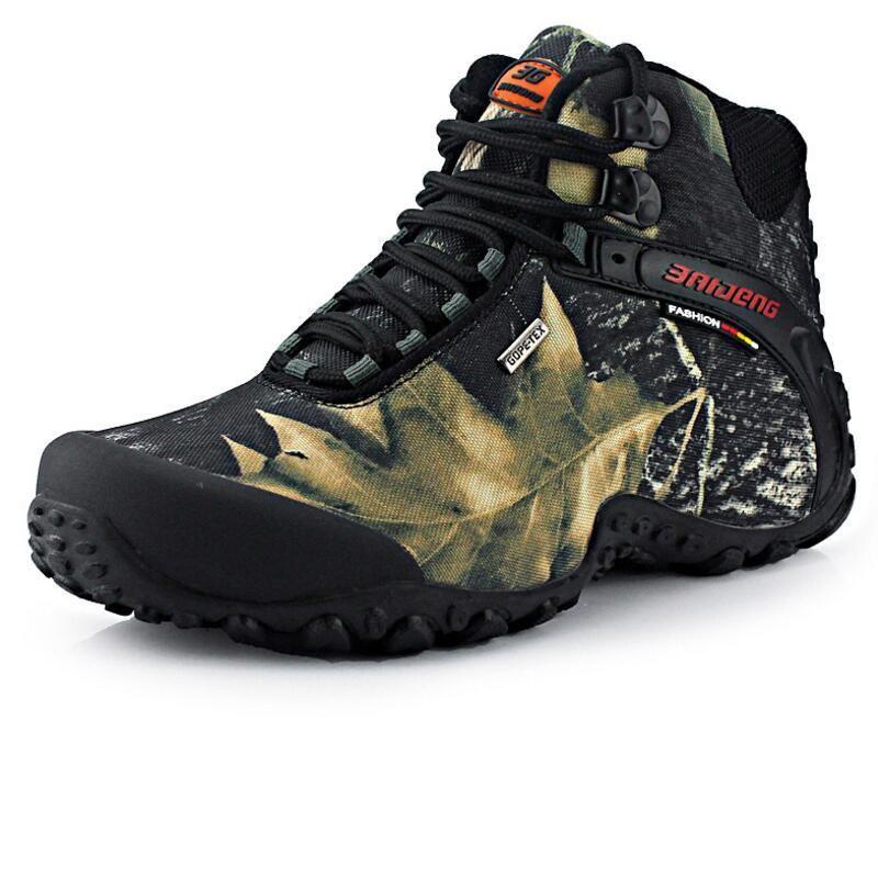 Nuevos zapatos de senderismo de lona impermeable botas anti-patín resistente a los zapatos de pesca transpirables que escalan zapatos al aire libre envío gratis